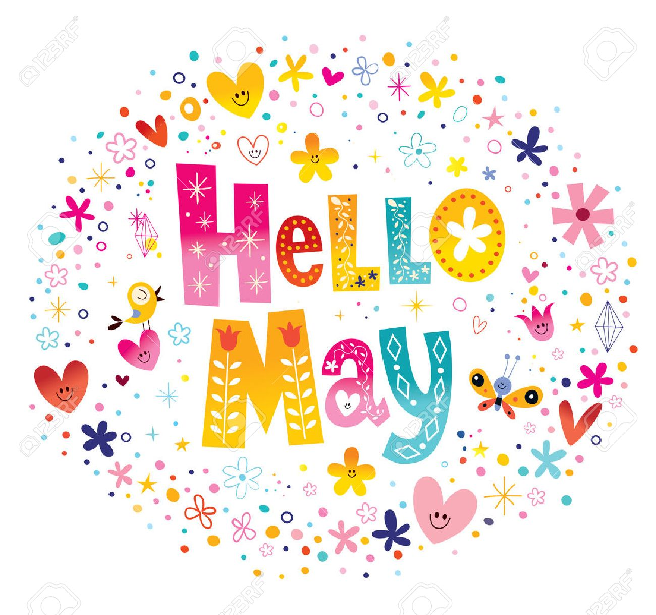 54721746-hello-may-unique-lettering-with-flowers-and-hearts-spring ...